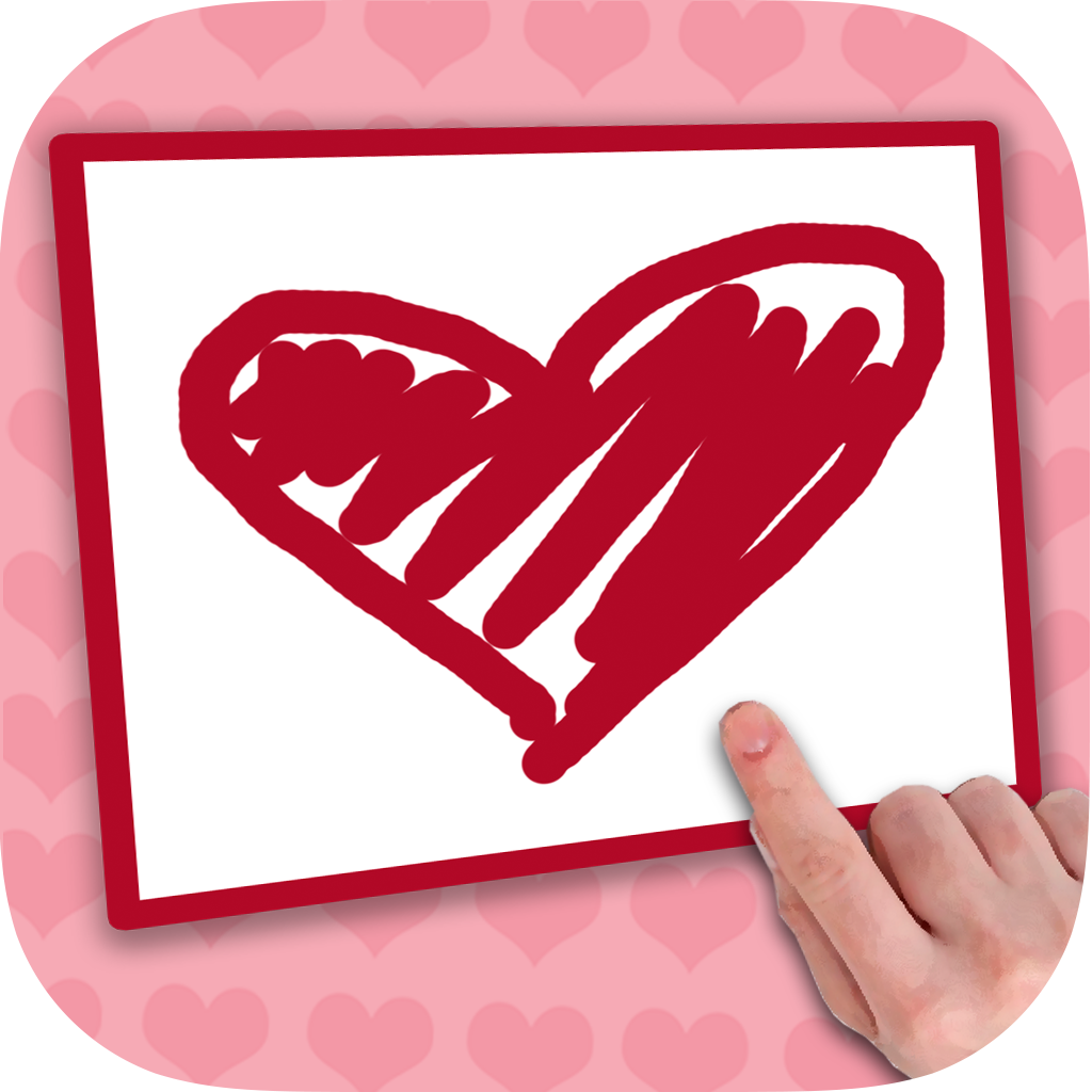 "Create cards of love and designed postcards with messages of love to say ""I love you"""